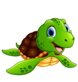 smiling turtle cartoon vector image vector image