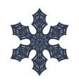 snowflake sign black icon isolated vector image
