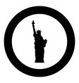 statue of liberty icon black color in circle vector image vector image