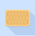 striped biscuit icon flat style vector image vector image