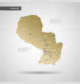 stylized paraguay map vector image