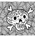 sugar skull in mexican style vector image