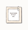 template photo frames vector image vector image
