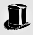 top hat icon isolated on white background vector image vector image