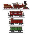 vintage american steam train vector image vector image