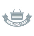 washing cart logo simple gray style vector image vector image
