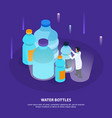 water purification isometric background vector image