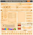 web design elements set paper vector image vector image