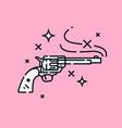 western revolver hand gun icon vector image