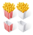 fried chips in paper bag vector image