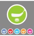 Ice hockey icon flat web sign symbol logo label vector image