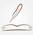 The open book and pen vector image