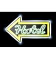 Retro American neon motel roadsign vector image