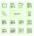 14 binder icons vector image vector image