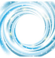 abstract blue wave on white background vector image vector image