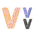 alphabet letter v kids education poster or vector image vector image