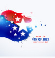 american holiday 4th july background vector image vector image
