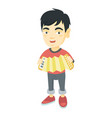 asian boy playing the accordio vector image vector image