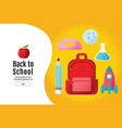 back to school sale banner poster flat design vector image vector image