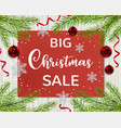background for seasonal christmas sale vector image vector image