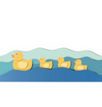 baducks swimming following their mother vector image vector image