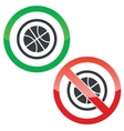 Basketball permission signs vector image vector image