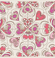 beige background with color decorative valentine vector image vector image