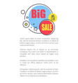 big sale advertisement poster with shiny bubbles vector image