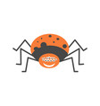 big spider with many eyes and friendly smile vector image vector image
