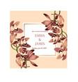Botanical wedding invitation card template design