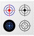 bullseye eps icon with contour version vector image