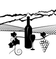 California vineyard vector image