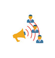 campaign management icon simple flat element from vector image vector image