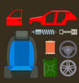 car parts auto repair service vehicle vector image