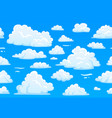 cartoon blue cloudy sky horizontal seamless vector image