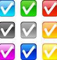 Check buttons vector image vector image