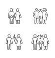 child custody linear icons set vector image vector image