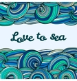 Color doodle texture swirl summer sea inscription vector image vector image