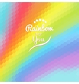 Colorful background with rainbow waves with mosaic vector image