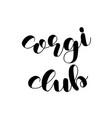 corgi club badge banner of logo template with vector image vector image
