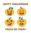 created halloween jack o lantern pumpkins vector image