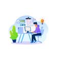designer working on web project work vector image vector image