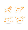 dog logo and icon design concept template vector image vector image