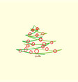 drawn abstract christmas tree vector image vector image