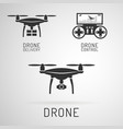 drone icon aerial drone with a camera vector image