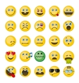 Emoji emoticons icons set vector image vector image