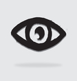 Eye icon character design vector image