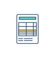 financial report rgb color icon vector image