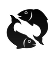 fish animal pisces zodiac zign vector image