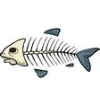 fish skeleton doodle vector image